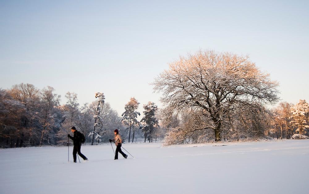 Nederland, Driebergen, 19  dec 2010.Winterplaatjes in Driebergen na forse sneeuwval. Er viel zo'n 20 cm sneeuw...Foto (c)  Michiel Wijnbergh