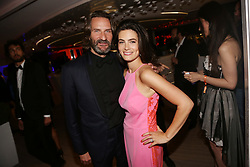 Frederic Beigbeder and his wife Lara Micheli attending the Orange Cine Party at Plage du Majestic during The 70th Annual Cannes Film Festival in Cannes, southern France on May 20, 2017. Photo by Jerome Domine/ABACAPRESS.COM
