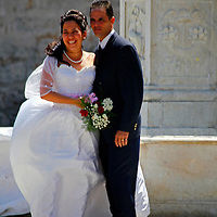 Central America, Cuba, Havana. Bride and Groom in Havana.