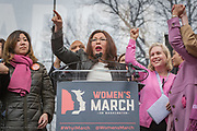 Congresswoman Tammy Duckworth calls out to the crowd