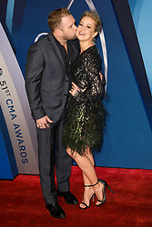 Thomas Rhett at the 51st Annual Country Music Association Awards hosted by Carrie Underwood and Brad Paisley and held at the Bridgestone Arena on November 8, 2017 in Nashville, TN. © Curtis Hilbun / AFF-USA.com. 08 Nov 2017 Pictured: Kyle Jacobs and Kellie Pickler. Photo credit: MEGA TheMegaAgency.com +1 888 505 6342