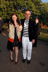 GILES DEACON and KATIE GRAND at the annual Serpentine Gallery Summer Party in association with Swarovski held at the gallery, Kensington Gardens, London on 11th July 2007.<br /><br />NON EXCLUSIVE - WORLD RIGHTS