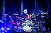 Sam Loeffler, Drums with Chevelle performs at Fivepoint Amphitheater in Irvine Ca. on September 16th, 2016