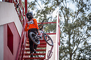 #75 (VAN BENTHEM Merle) NED during practice at round 1 of the 2018 UCI BMX Supercross World Cup in Santiago del Estero, Argentina.