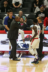 December 17, 2018 - Los Angeles, CA, U.S. - LOS ANGELES, CA - DECEMBER 17: Clippers coach Doc Rivers talking to the ref during the Portland Trail Blazers at Los Angeles Clippers NBA game on December 17, 2018 at Staples Center in Los Angeles, CA.. (Photo by Jevone Moore/Icon Sportswire) (Credit Image: © Jevone Moore/Icon SMI via ZUMA Press)