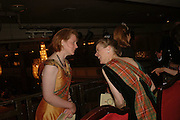 LADY MELISSA EDWARDS AND VISCOUNTESS DUPPLIN, The Royal Caledonian charity Ball 2006.Grosvenor House. London. 5 May 2006. . ONE TIME USE ONLY - DO NOT ARCHIVE  © Copyright Photograph by Dafydd Jones 66 Stockwell Park Rd. London SW9 0DA Tel 020 7733 0108 www.dafjones.com