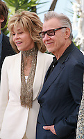 Actress Jane Fonda, and Actor Harvey Keitel at the Youth film photo call at the 68th Cannes Film Festival Tuesday May 20th 2015, Cannes, France.