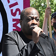 Anti racism campaigners gather outside Downing Street to Take The Knee in support of the England football players who endured racial abuse after the Euro Final on 17th July 2021, London, UK.