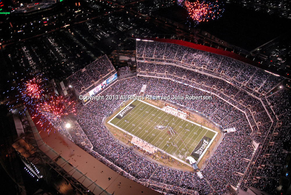 Aerial  view of Lincoln Financial Field Home of the Philadelphia Eagles, Philadelphia, Pennsylvania ( Aerial  view of Philadelphia Eagles vs Cleveland Browns at Lincoln Financial Field on December 15th 2008 Monday Night Game during Pregame Ceremony.