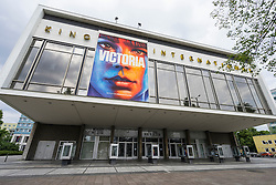 Exterior view of historic Kino International cinema in former East Berlin on Karl Marx Avenue in Berlin Germany