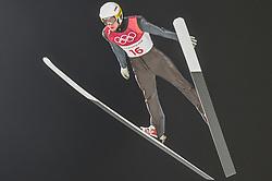 February 10, 2018 - Pyeonchang, Gangwon, South Korea - Evgeniy KlimovofNew Zealand at mens normal hill final at 2018 Pyeongchang winter olympics at Alpensia Ski Jumping Centre, Pyeongchang, South Korea on February 10, 2018. Ulrik Pedersen/Nurphoto  (Credit Image: © Ulrik Pedersen/NurPhoto via ZUMA Press)