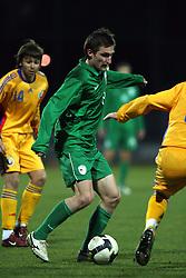 Armin Bacinovic (8)  of Slovenia during Friendly match between U-21 National teams of Slovenia and Romania, on February 11, 2009, in Nova Gorica, Slovenia. (Photo by Vid Ponikvar / Sportida)