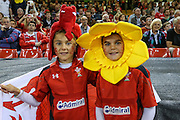Welsh fans during the Rugby World Cup Pool A match between Wales and Fiji at Millenium Stadium, Cardiff, Wales on 1 October 2015. Photo by Shane Healey.