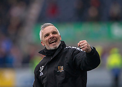 Alloa Athletic's manager Jim Goodwin at the end of the game. Falkirk 1 v 2 Alloa Athletic, Scottish Championship game played 6/4/2019 at The Falkirk Stadium.