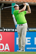 February 16th 2017, Lake Karrinyup Country Club, Perth, Western Australia, Australia; ISPS Handa World Super 6 Perth Golf Tournament Day 1; Steven Jeffress (AUS) tees off from the 1st on day one of the ISPS Handa World Super 6 tournament;