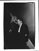 Alexia Althusen and Gus Hochschild. Pitt Club Ball. Cambridge. 20/2/88. Film 88127f30<br /> © Copyright Photograph by Dafydd Jones<br /> 66 Stockwell Park Rd. London SW9 0DA<br /> Tel 0171 733 0108