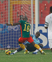 Photo: Steve Bond/Richard Lane Photography.<br /> Cameroun v Zambia. Africa Cup of Nations. 26/01/2008.  Achille Emana rounds keeper Kennedy Mweene to score