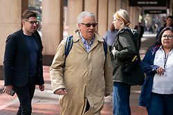 © Licensed to London News Pictures. 30/04/2019. London, UK. Labour Party activist Jon Lansman (centre) arrives at Labour Party headquarters for National Executive Meeting at which Labour's position on a second EU vote will be decided. Photo credit : Tom Nicholson/LNP