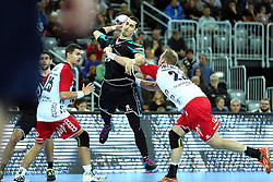 21.11.2015, Arena Zagreb, Zagreb, CRO, EHF CL, RK PPD Zagreb vs SG Flensburg Handewitt, Gruppe A, im Bild Josip Valcic. // during the EHF Champions League, group A match between RK PPD Zagreb and SG Flensburg Handewitt at the Arena Zagreb in Zagreb, Croatia on 2015/11/21. EXPA Pictures © 2015, PhotoCredit: EXPA/ Pixsell/ Goran Stanzl<br /> <br /> *****ATTENTION - for AUT, SLO, SUI, SWE, ITA, FRA only*****