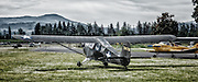 Aeronca L3 taxiing to takeoff at WAAAM.