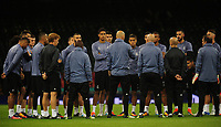 The Real Madrid squad is briefed by manager Zinedine Zidane<br /> <br /> Photographer Kevin Barnes/CameraSport<br /> <br /> UEFA Champions League Final - Training session - Juventus v Real Madrid - Friday 2nd June 2017 - Principality Stadium - Cardiff<br />  <br /> World Copyright © 2017 CameraSport. All rights reserved. 43 Linden Ave. Countesthorpe. Leicester. England. LE8 5PG - Tel: +44 (0) 116 277 4147 - admin@camerasport.com - www.camerasport.com