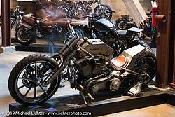 Kyle Shorey's custom Harley-Davidson on Sunday at the Handbuilt Motorcycle Show. Austin, TX. April 12, 2015.  Photography ©2015 Michael Lichter.