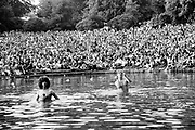 Audience at Elvis Costello live Crystal Palace London garden party 1977