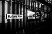 Balboa Park BART station, Oakland, California.