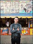 09.10.2020 Kleiner Stadtmarsch, Magdeburg, Elbe Fun Park.<br /> <br /> Christopher Bartossek, ist einer der jüngsten auf dem Max Wille Platz. Er ist die dritte Generation in der Familie.<br /> <br /> ©Harald Krieg/Agentur Focus