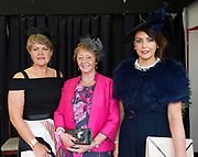 17/08/2017Runner up Tina Staunton from Clifden, Pauline Cribbins Clifden and Dawn Acton from Clifden Best Dressed Lady Finalists at the Connemara Pony Show in Clifden. Photo:Andrew Downes, xposure