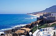 Sea view of Atlantic Ocean view north towards Cape Spartel, Morocco, north Africa 1999