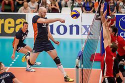 24-09-2016 NED: EK Kwalificatie Nederland - Wit Rusland, Koog aan de Zaan<br /> Nederland wint na een 2-0 achterstand in sets met 3-2 / Jasper Diefenbach #6