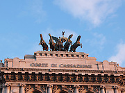 Detail of Corte Di Cassazione, Supreme Court of Cassation. Rome, Italy.