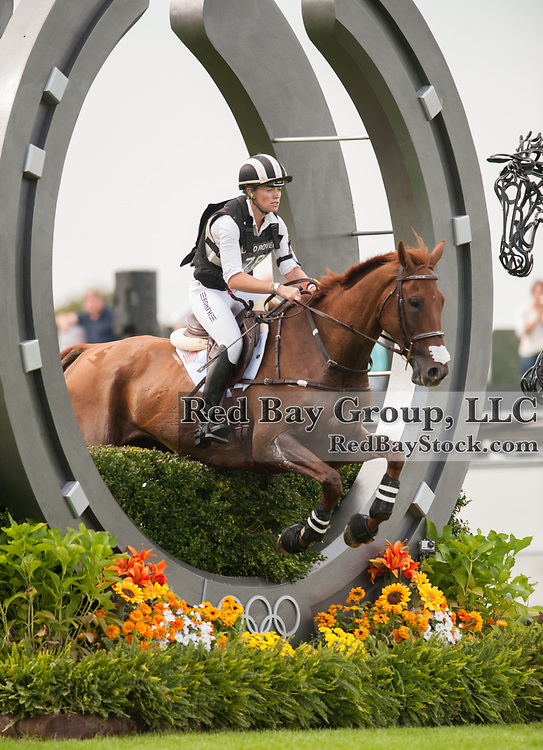 Sinead Halpin and Manoir De Carneville - Burghley House, Stamford, UK - The Cross Country phase,  Land Rover Burghley Horse Trials, 1st September 2012.