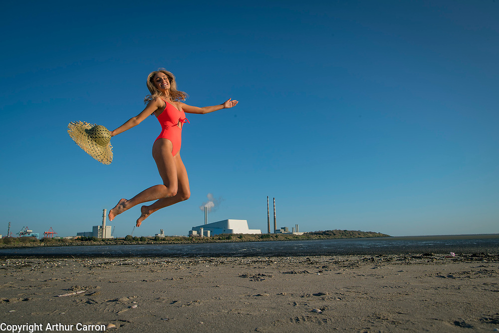 NO FEE PICTURES<br /> 15/1/20 Model Ciara Owens get summer ready at a photocall for the Holiday World Show's 30th Anniversary show, showcasing some wonderful holiday opportunities in the RDS Simmonscourt from 24th-26th January 2020. Picture: Arthur Carron.