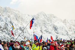 Slovenian flags during Ski Flying Hill Individual Competition at Day 2 of FIS Ski Jumping World Cup Final 2018, on March 23, 2018 in Planica, Ratece, Slovenia. Photo by Ziga Zupan / Sportida