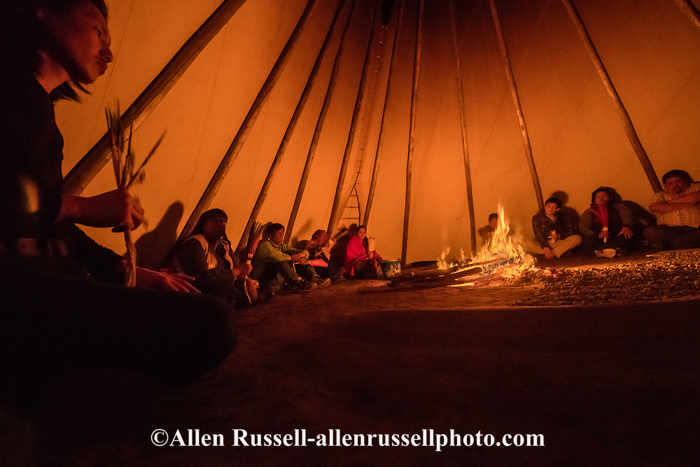 Peyote ceremony, Native American Church, water woman, Crow Indian Reservation, Montana