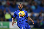 Junior Hoilett of Cardiff city in action. EFL Skybet championship match, Cardiff city v Ipswich Town at the Cardiff city stadium in Cardiff, South Wales on Tuesday 31st October 2017.<br /> pic by Andrew Orchard, Andrew Orchard sports photography.