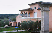 Chateau des Estanilles. In Lentheric village. Faugeres. Languedoc. The main building. France. Europe.