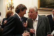 Nigel Havers and  Keith Barron , Book launch for 'Shark Infested Waters' by Michael Whitehall. Belgrave Sq. London. 12 June 2007.  -DO NOT ARCHIVE-© Copyright Photograph by Dafydd Jones. 248 Clapham Rd. London SW9 0PZ. Tel 0207 820 0771. www.dafjones.com.