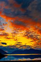 Sunset near Haines, southeast Alaska USA