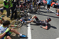 Sykkel<br /> Foto: PhotoNews/Digitalsport<br /> NORWAY ONLY<br /> <br /> NERZ Dominik of Bora-Argon 18, victim of the crash during the stage 3 of the 102nd edition of the Tour de France 2015 with start in Antwerp and finish in Huy, Belgium (159 kms) *** HUY, BELGIUM - 6/07/2015