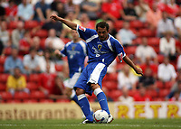 Photo: Rich Eaton.<br /> <br /> Barnsley v Cardiff City. Coca Cola Championship.<br /> <br /> 05/08/2006. Cardiffs Michael Chopra has a shot at goal