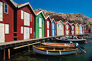 Old fishery buildings in Smogen on the west coast of Sweden