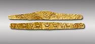 Roman gold decorative jewellery head band, 1st century AD from Hierapolis Gumusler Necropolis. Hierapolis Archaeology Museum, Turkey