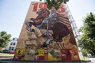 Patriotyczne murale w Łomży