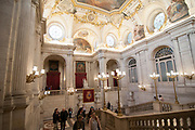 Interior of the Royal Palace, Madrid, Spain