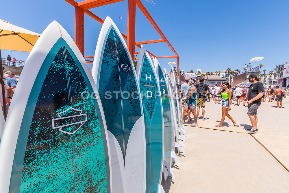 People Attending the Annual US Open of Surfing Competition