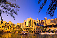 Canals of the Madinat Jumeirah resort hotel complex, Dubai, United Arab Emirates