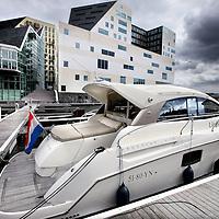 Nederland, Amsterdam , 19 september 2013<br /> De nieuwe jachthaven aan de Westerdoksdijk.<br /> Foto:Jean-Pierre Jans